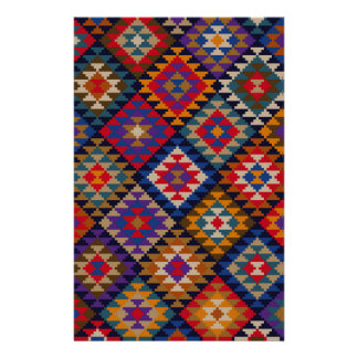 Geometric knitted quilt pattern stationery
