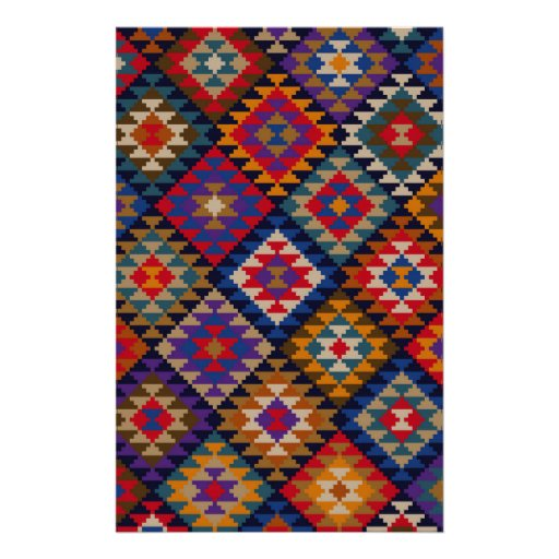 Geometric knitted quilt pattern stationery Zazzle