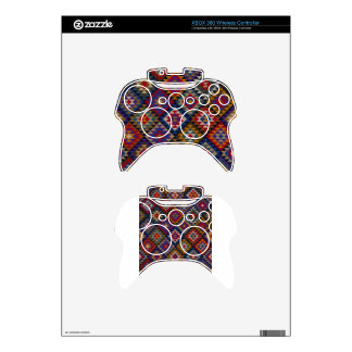 Geometric knitted quilt pattern xbox 360 controller skins
