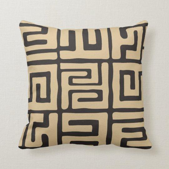 Earth Tone Throw Pillows.Geometric Kuba Cloth Inspired Earth Tone Throw Pillow