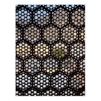 Geometric Lattice window, India Postcard
