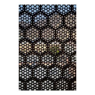 Geometric Lattice window, India Poster