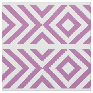 Geometric Lavender and White Chevrons and Diamonds Fabric