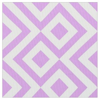 Geometric Lavender and White Meander Fabric