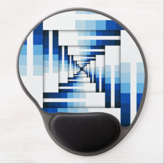 Geometric Layers of Blue Gel Mouse Pad