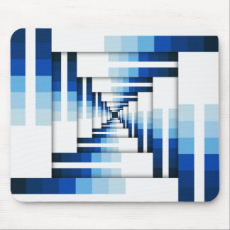 Geometric Layers of Blue Mouse Pad