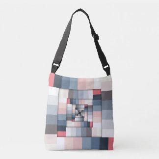 Geometric Layers of Color Crossbody Bag