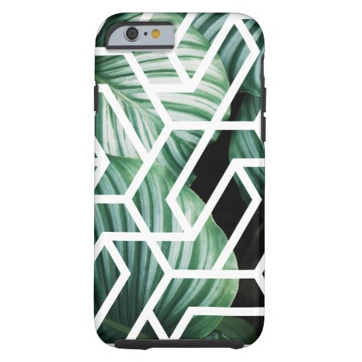 Geometric Leaves Pattern Design Tough iPhone 6 Case