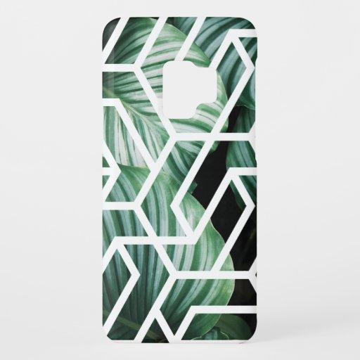 Geometric Leaves Pattern Design Case-Mate Samsung Galaxy S9 Case