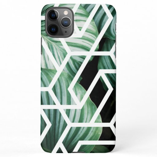 Geometric Leaves Pattern Design iPhone 11Pro Max Case