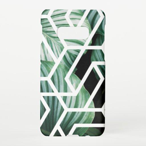 Geometric Leaves Pattern Design Samsung Galaxy S10E Case