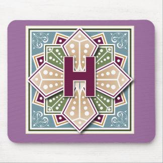 Geometric Letter H Mouse Pad