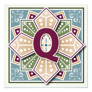 Geometric Letter Q Card