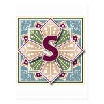 Geometric Letter S Post Card