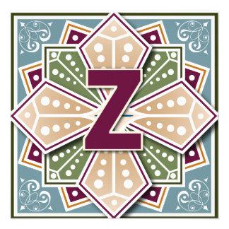 Geometric Letter Z Vingate Intaglio Announcements