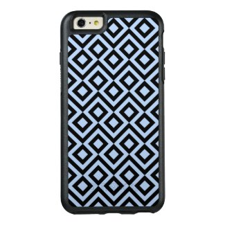 Geometric Light Blue and Black Meander Pattern OtterBox iPhone 6/6s Plus Case