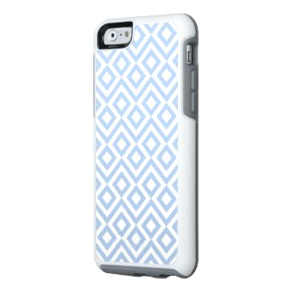 Geometric Light Blue and White Meander Pattern OtterBox iPhone 6/6s Case