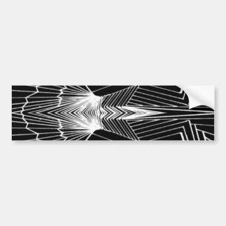 Geometric Line Art Black & White Abstract Design Bumper Sticker