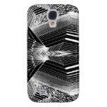Geometric Line Art Black & White Abstract Design Galaxy S4 Cases