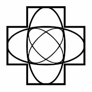 Geometric Line Art Photo Cut Out