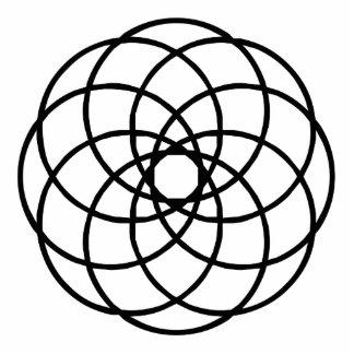 Geometric Line Art Photo Cutout