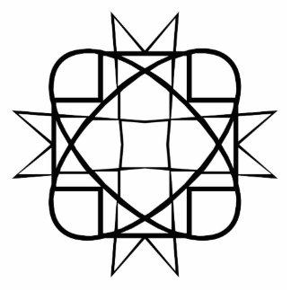 Geometric Line Art Photo Cutouts