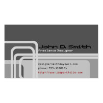 modern, geometric, lines, squares, grays, business, formal, designer, trendy, best, selling, seller, best selling, creative, unique, Business Card with custom graphic design