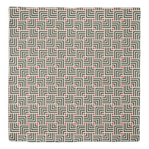 Geometric Lines Pattern Duvet Cover