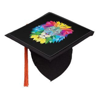 Geometric Lion Head Graduation Cap Topper