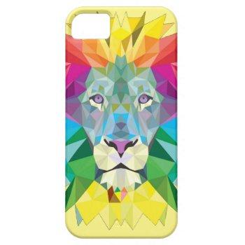 Geometric Lion Head iPhone SE/5/5s Case