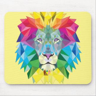 Geometric Lion Head Mouse Pad