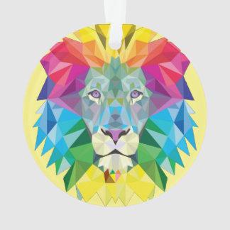 Geometric Lion Head Ornament