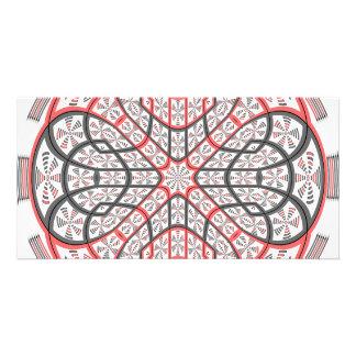 Geometric mandala card