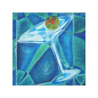 Geometric Martini Canvas Print