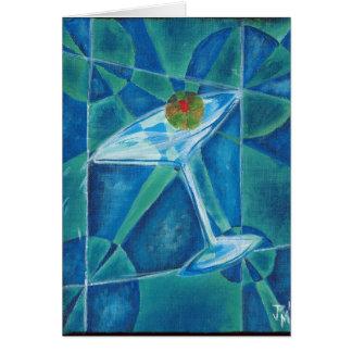 Geometric Martini Glass Card