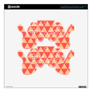 Geometric Melon Pyramids Decal For PS3 Controller