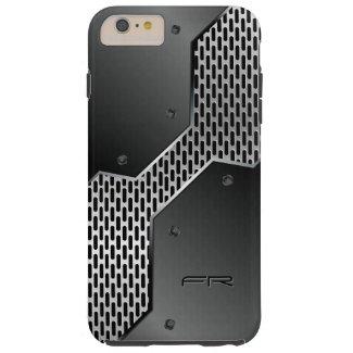 Geometric Metallic Black & Gray Design Tough iPhone 6 Plus Case