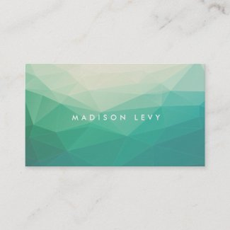 Geometric Minimalist Modern Contemporary Business Appointment Card