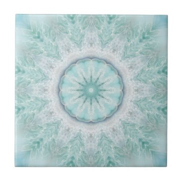 Beach Themed Geometric Mint Aqua Sea Star Bathroom Tile