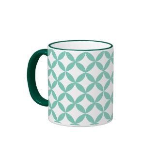 Geometric Mint Green Ringer Mug