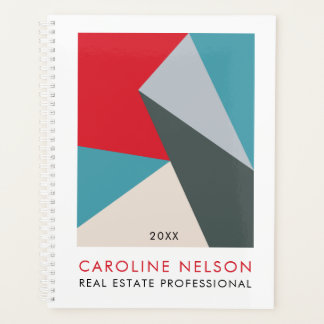 Geometric Modern Abstract Real Estate Planner