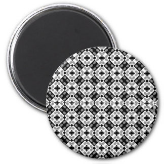 Geometric Modern Baroque Pattern Magnet
