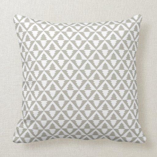 Geometric Modern Christmas Trees Pillow Zazzle