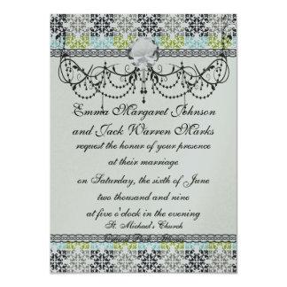 geometric modern damask pattern card