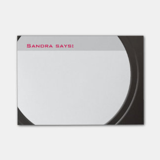 Geometric Modern Metallic any Text and Color Post-it Notes