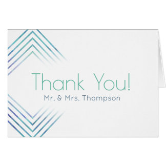 Geometric Modern Watercolor Thank You Cards