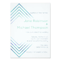 Geometric Modern Watercolor Wedding Invitation