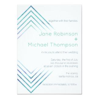 Geometric Modern Watercolor Wedding Invitation