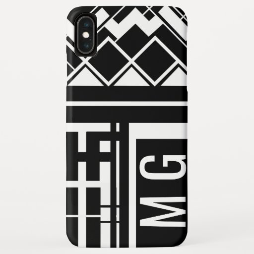 Geometric Monochrome Black and White iPhone XS Max Case