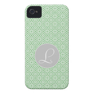 Geometric Monograma drawn up Moroccan green gray a iPhone 4 Cover